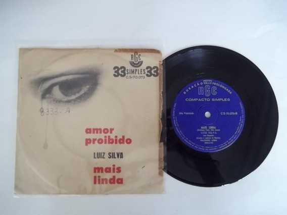 Vinil Compacto Ep - Luiz Silva - Amor Proibido
