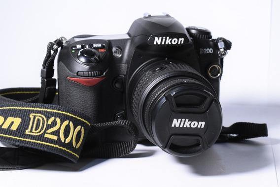 Câmera Digital Profissional Dslr Nikon D200 Somente O Corpo*