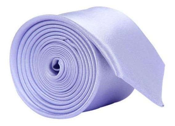 Corbata Color Sólido Slim Estrecha Poliéster Formal Moda