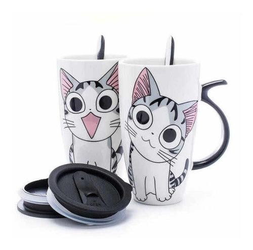 Adorable Pocillo Gato Chi Sweet Mug Gatito Anime Dulce Hogar