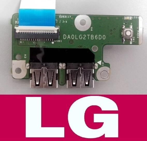 Placa Usb Botão Power Lg S425 S430 S460 Séries Da0lg2tb6d0