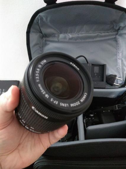 Canon T6i Com Lente 18-55 Semi Nova + Bolsa + Memória