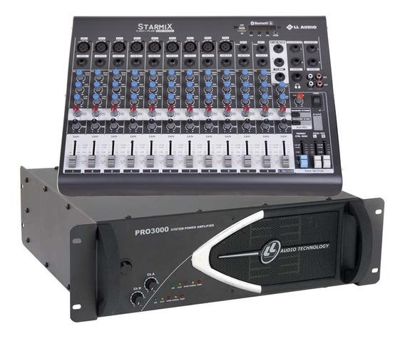 Kit Mesa Som 12 Canais Ll Xms1202d + Potencia Pro 4000 1000w