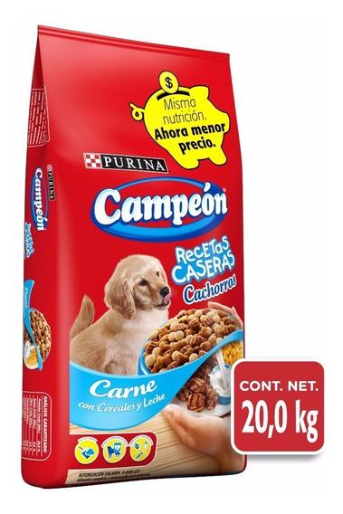 Alimento Para Perro Campeon Recetas Caseras Cachorro 20 Kg