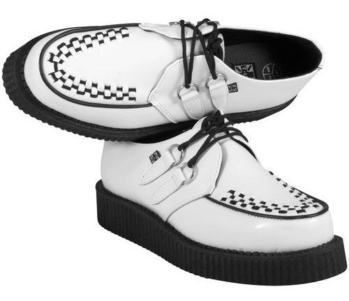 Zapatos Creepers Blancos Piel Tuk A7269 T.u.k. Demonia Punk