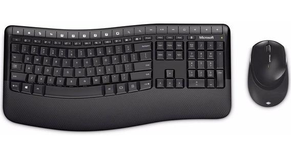 Teclado E Mouse Sem Fio Comfort Usb Preto Microsoft