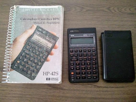 Calculadora Científica Hp 42s Com Manual Original - Anos 90