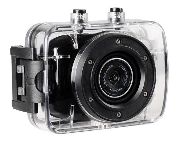 Câmera Filmadora De Ação Onn 5mp Hd Tela 2 Preta