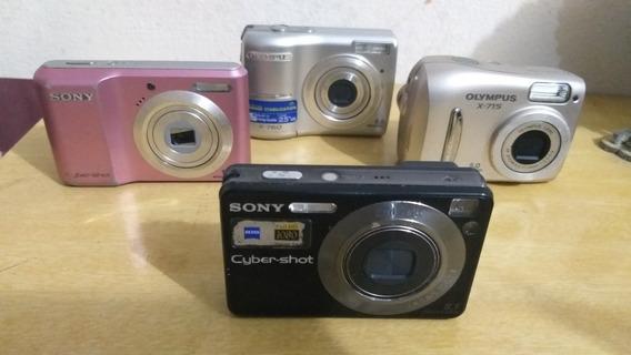 Lote De 4 Câmeras Cyber Shot