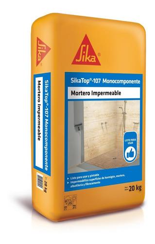 Imagen 1 de 6 de Sikatop 107 Monocomponente Mortero Impermeable 20 Kg