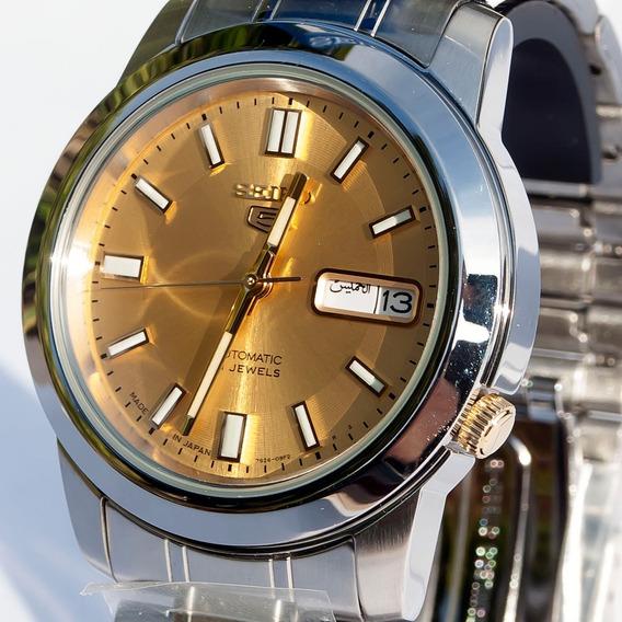 Relógio Seiko 5 Automático 21 Jóias Snkk13j1 Made In Japan