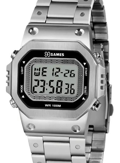 Relógio X-games Masculino Prata Quadrado Digital Xgssd001 Bx