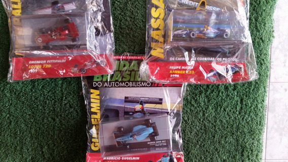 Miniaturas F1 Lendas Emerson/massa/gugelmim Frete Grátis
