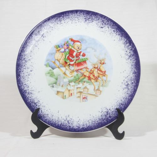 Imagem 1 de 6 de Prato Decorativo Natal 26cm