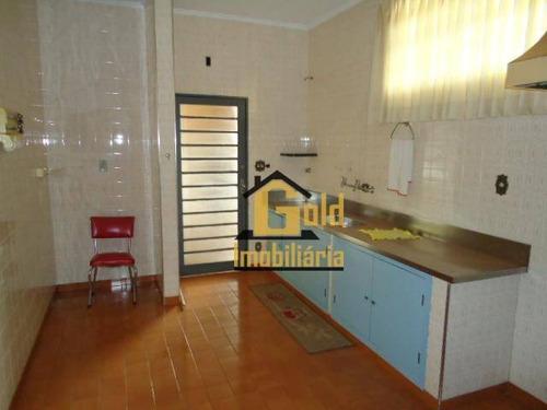 Casa Com 3 Dormitórios À Venda, 216 M² Por R$ 530.000 - Jardim Paulista - Ribeirão Preto/sp - Ca0848