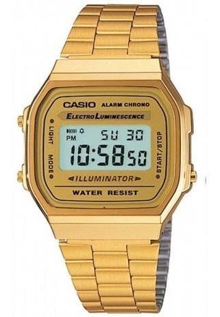 Relógio Casio Vintage Dourado Unissex