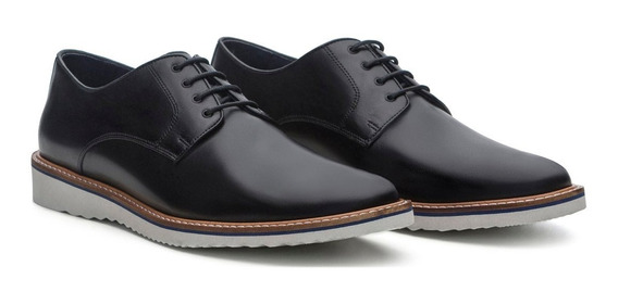Sapato Masculino Stock 51 Derby Connor De Couro Legítimo