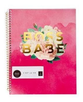 Pink Pailee - Caderno Universitário - 70 Folhas Pautadas