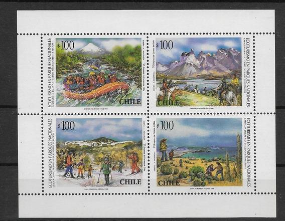 Estampillas De Chile 1996 Hb Parques Nacionales Fauna Mint