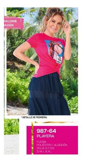 Playera Casual Dama Fiusha 987-64 Cklass 1-20 J