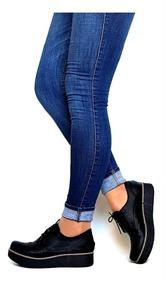 7f2dee460b3 Zapatos Mujer Cierre Plataforma Charritos Suela Taco De Goma