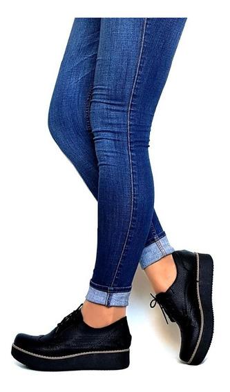 Zapatos Mujer Cierre Plataforma Charritos Suela Taco De Goma