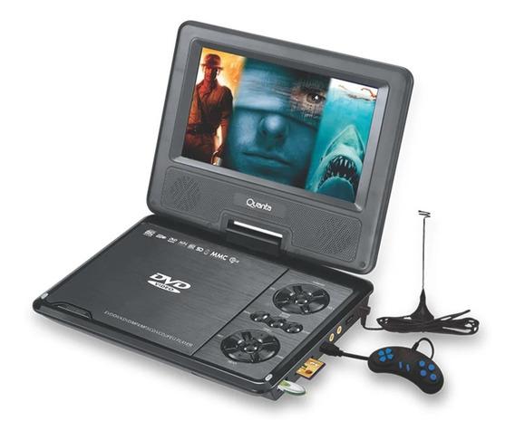Dvd Portátil Tela 9.8 Com Tv Digital Cd Jogo Mp3 4 Gira 270º