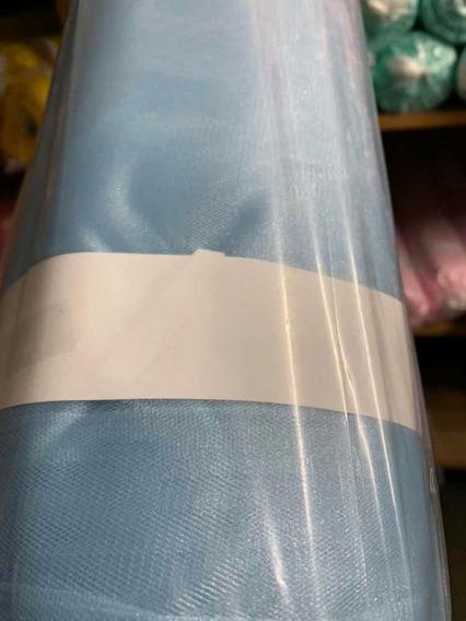 Tecido Tule Frances C/brilho 3,00m Larg Peça 50 Mts. Branco