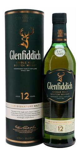 Whisky Glenfiddich 12 Años Single Malt 750ml En Estuche