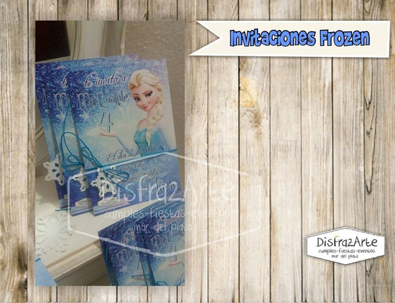 Tarjetas Invitaciones Digitales Frozen