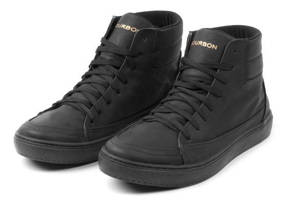 Nuevas! Zapatillas Botitas Cuero Urbanas Premium De Hombre