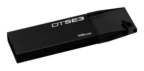 Imagen 1 de 1 de Memoria USB Kingston DataTraveler SE3 DTSE3 16GB 2.0 negro