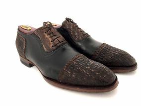 Zapato Italiano Oxford, Piel De Tiburón, Tipo Louis Vuitton