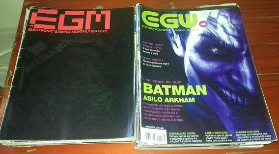 Lote De Revistas Eletronic Gaming Monthly Egm Egw Game Jogo