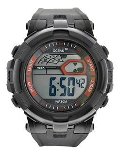 Reloj Caballero Crono Alarma Sumergible Deportivo - Od11-002
