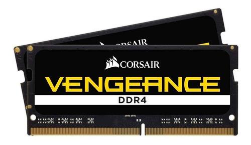 Imagem 1 de 2 de Memória RAM Vengeance color Preto  64GB 2x32GB Corsair CMSX64GX4M2A2666C18