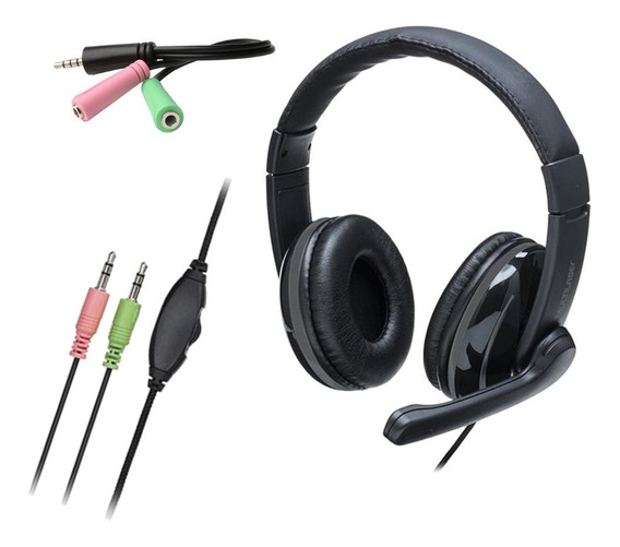 Headset P2/p3 3.5mm Fone C/ Microfone P/ Pc, Ps4, Xbox-one