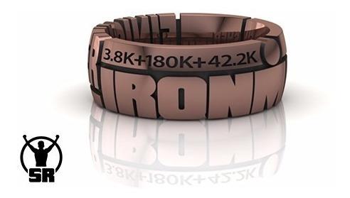 Anel De Ouro Rosé Para Finishers Triathlon Ironman