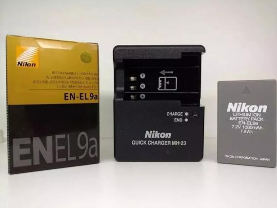 Bateria Nikon En-el9a El9 D40 D40x D60 D3000+carregador