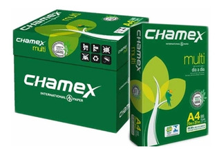 Resma A4 Chamex 75grs Papel Extra Blanco Caja X5