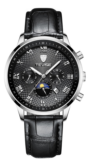 Tevise T846b Homem Relógio Grande Dial Mecânico Relógio A