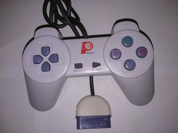 Playstation 1 - Joystick Players Cabo Grosso Novo De Época