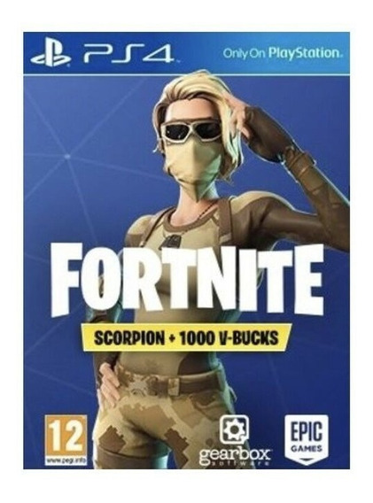 Fortnite - Scorpion Outfit + 1000 V-bucks Ps4 Europa 12 Dig