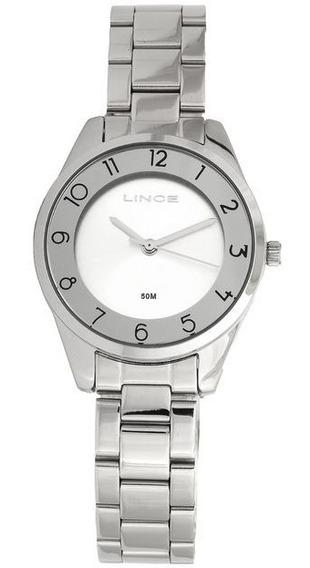 Relógio Lince Prata Nota Fiscal Garantia 1 Ano Loja Física