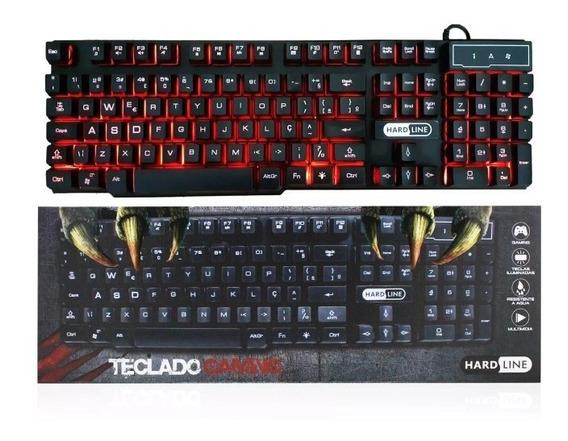 Teclado Gamer Semi Mecanico Iluminado Multicores Original Pc