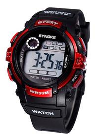 Relógio Barato Infantil Synoke Sport Luz De Led, Alarme