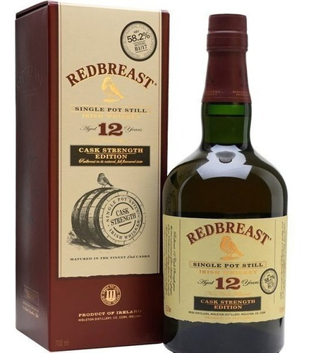 Whisky Irlandes Redbreast 12 Años Cask Strength 58.2 % Abv.