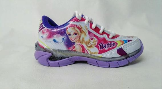 Tenis, Barbie, Branco/lilas, Com Luzes,