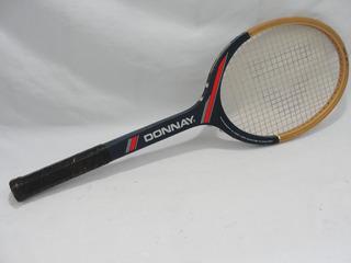 Antiga Raquete Tenis Madeira Donnay Belgica Anos 70