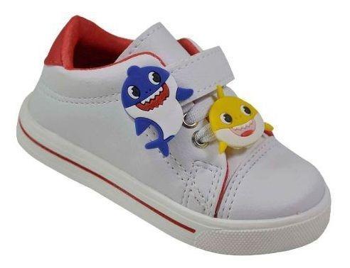 Tênis Infantil Escolar Mickey, Baby Shark Vários Personagens